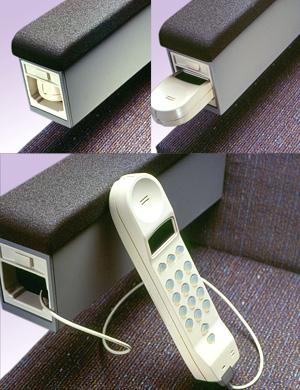 AT&T Airline Armrest Phone